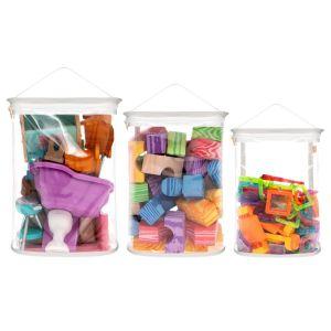 Kit Organizador de Brinquedos para Blocos - Branco