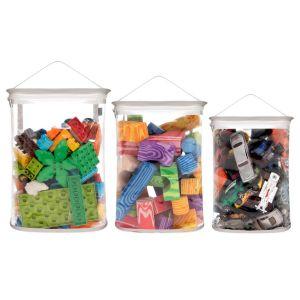 Kit Organizador de Brinquedos para Blocos - Cinza