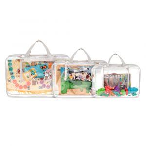 Kit Organizador de Brinquedos para Tabuleiros - Branco