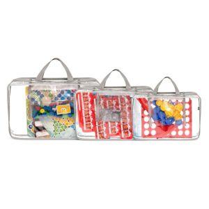 Kit Organizador de Brinquedos para Tabuleiros - Cinza