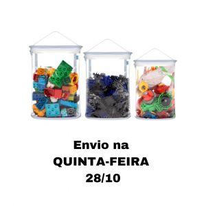 Kit Organizador de Brinquedos para Blocos - Azul
