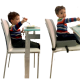 Almofada de Elevação Infantil para Cadeira Impermeável Cinza