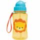 Garrafa Infantil Com Canudo de Silicone Retrátil  - Leão