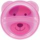 Prato Ursinho com divisória - Urso Rosa